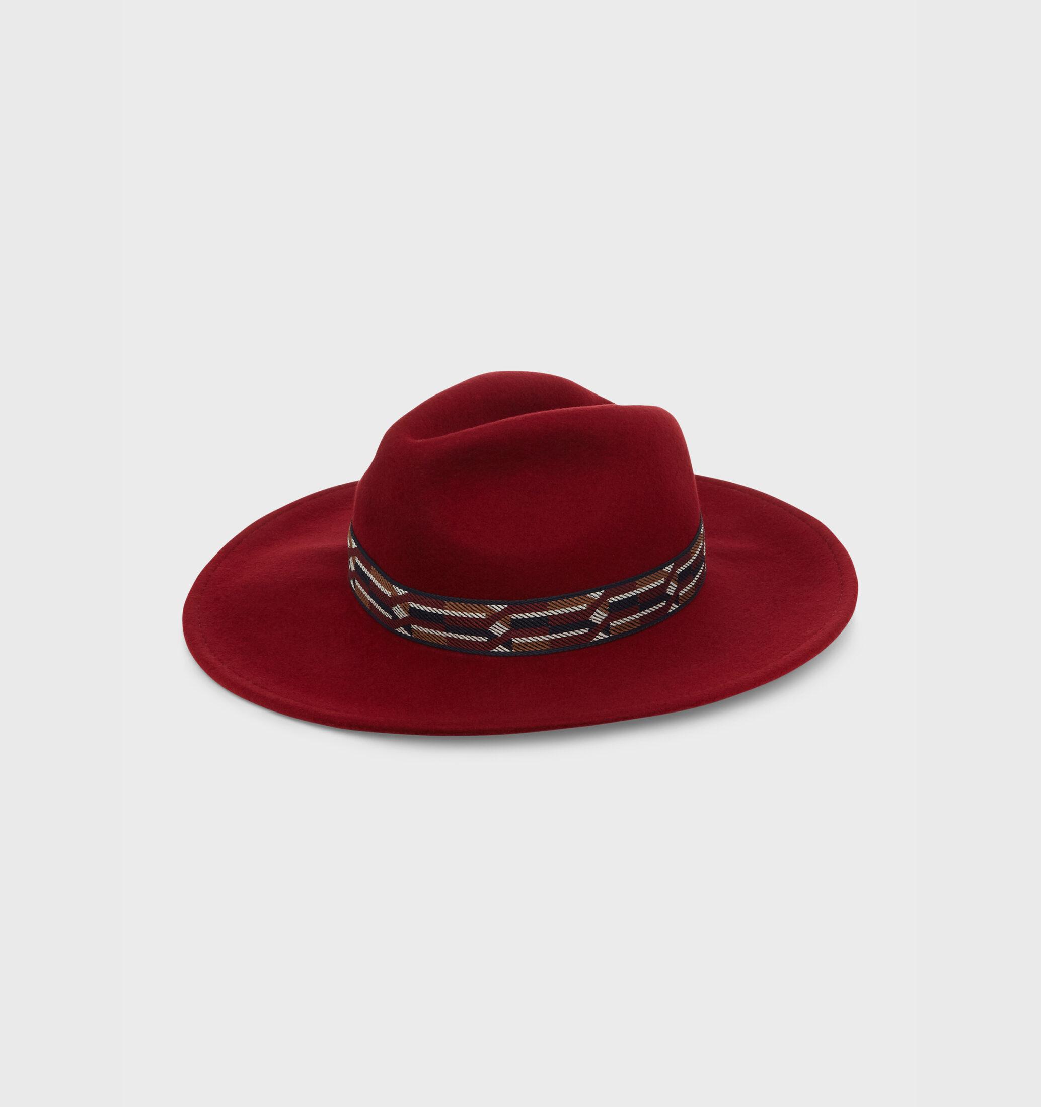 Anika Wool Fedora Merlot £45 Hobbs