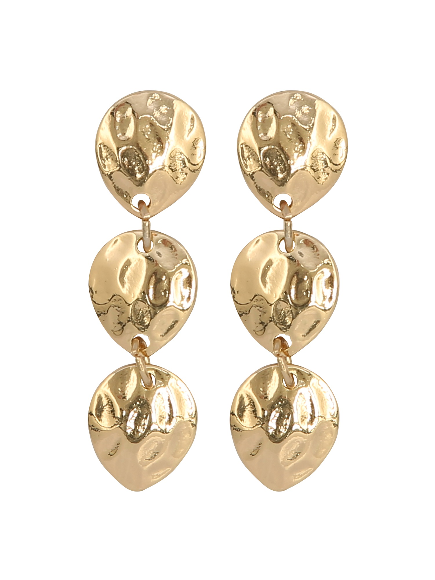Gold Hammered Earrings £6 M&CO