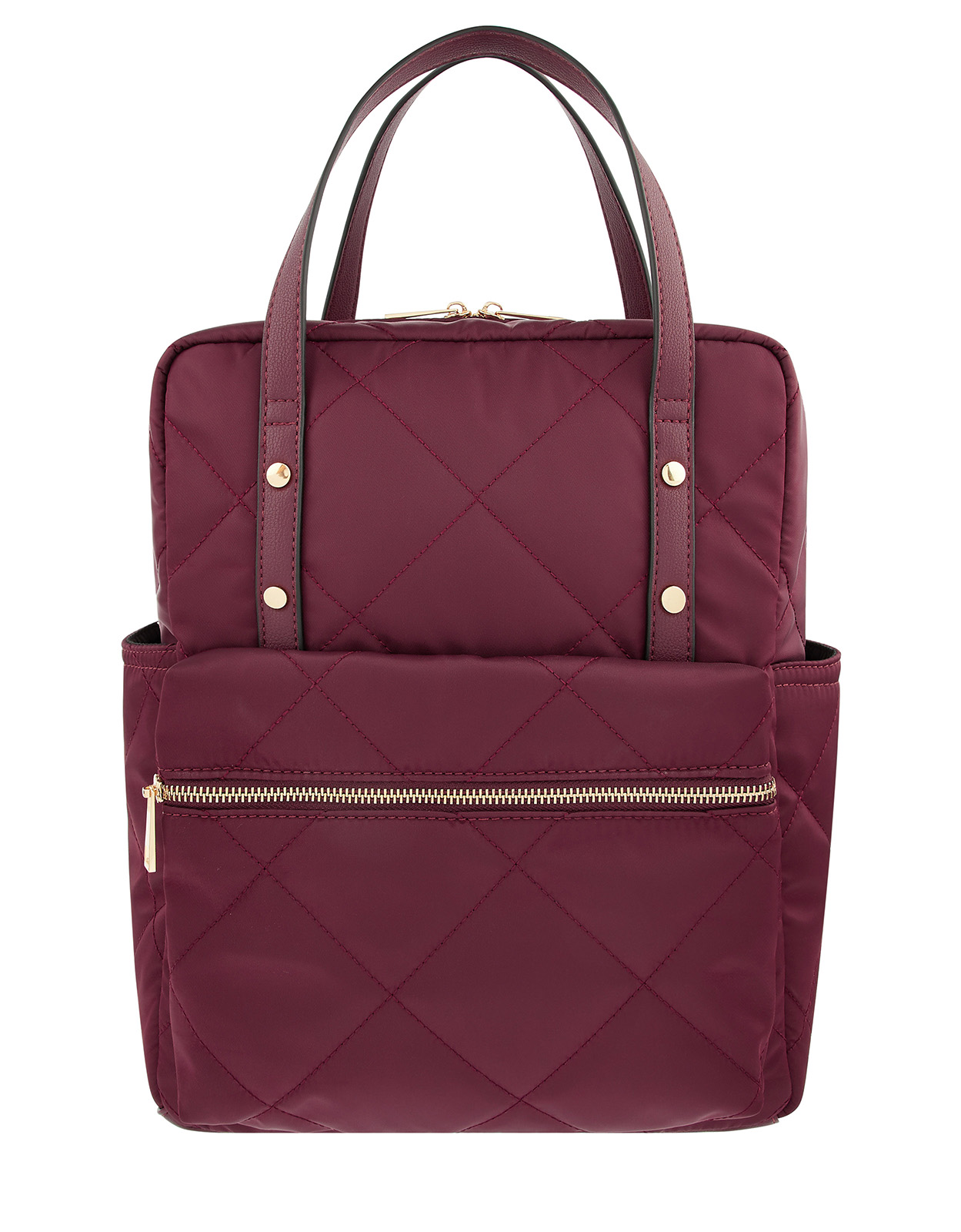 Burgandy Quilted Backpack £26.25 Accessorize