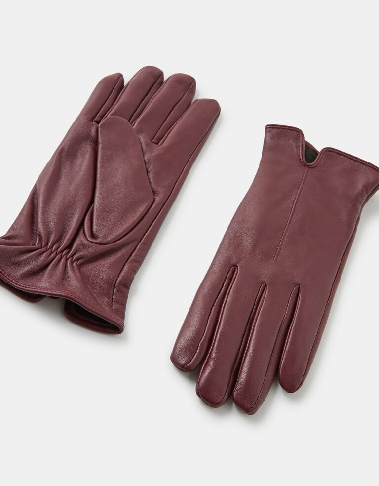 Burgandy Leather Gloves £20 Accessorize