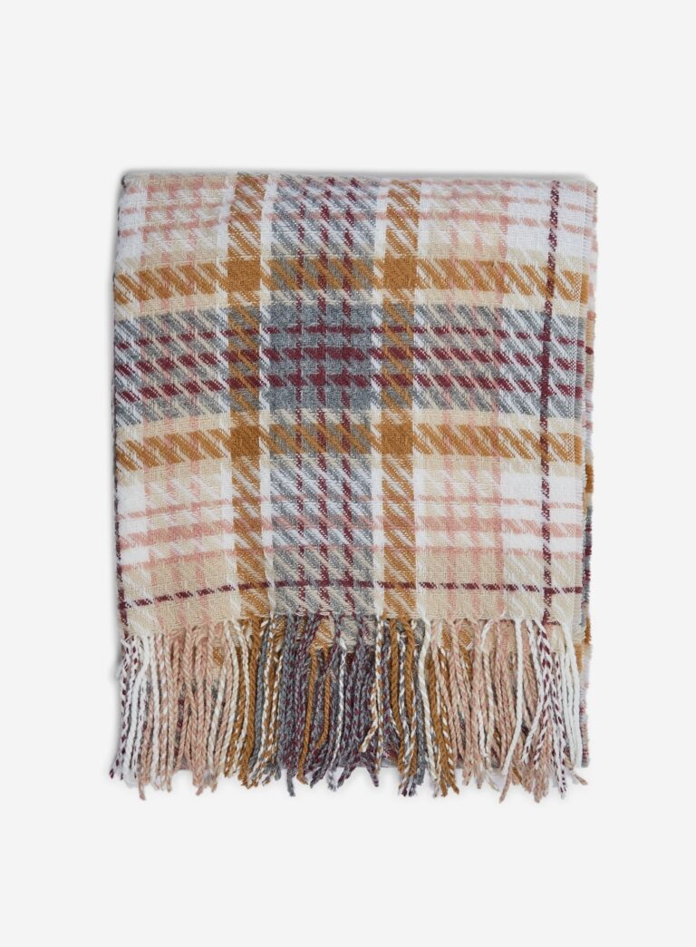 Cream and Grey Check Tassel Scarf £15 Dorothy Perkins