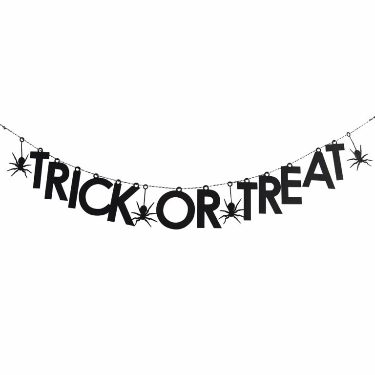 Papercut Trick Or Treat Halloween Bunting £9.99 Gettingpersonal.co.uk