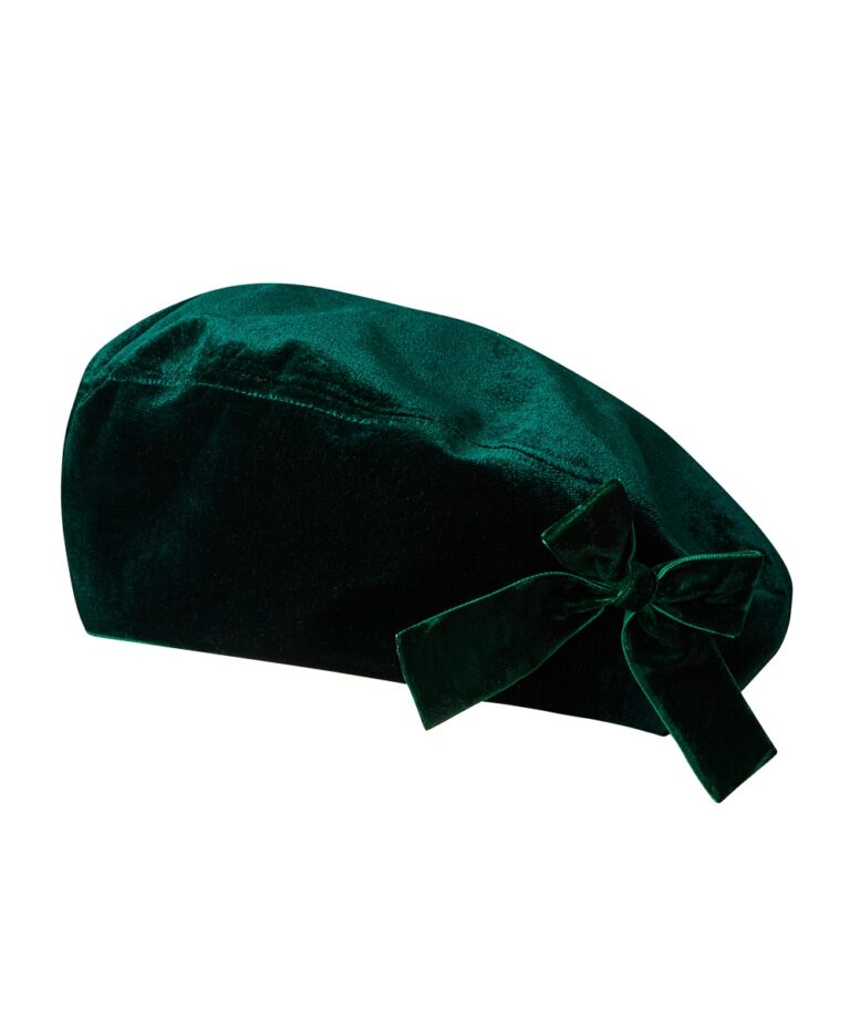 Bella Velvet Bow Trim Beret £21 Joe Browns