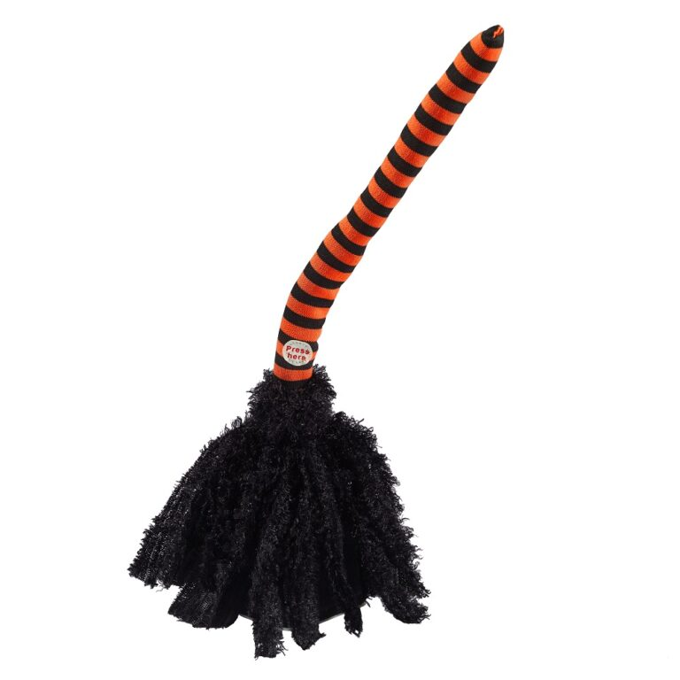Animated Witches Broom Halloween Decoration £21.99 Lights4Fun