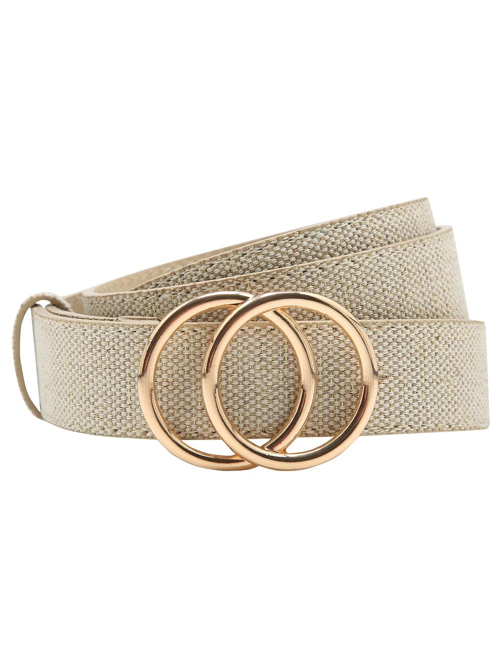 Gold Buckle Woven Belt £8.99 M&CO
