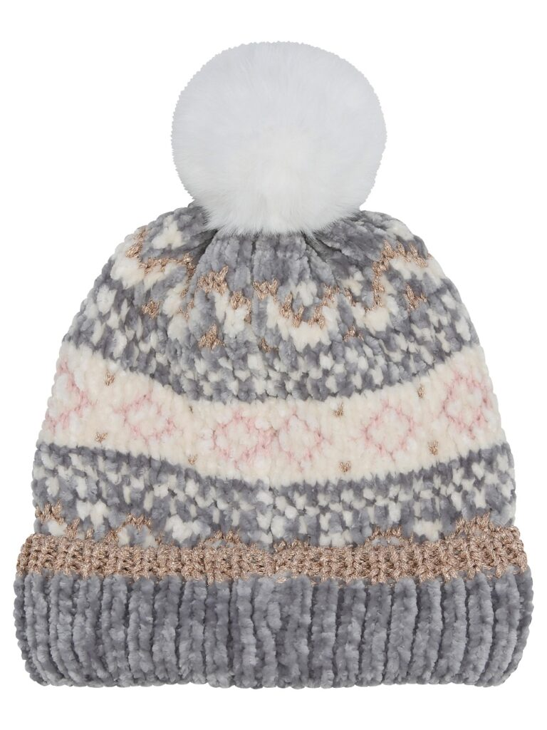 Pom Pom Fair Isle Hat £14.99 M&C0