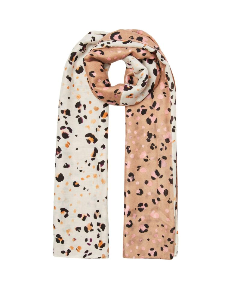 Animal Half and Half Snow Leopard Scarf £25 Oliver Bonas