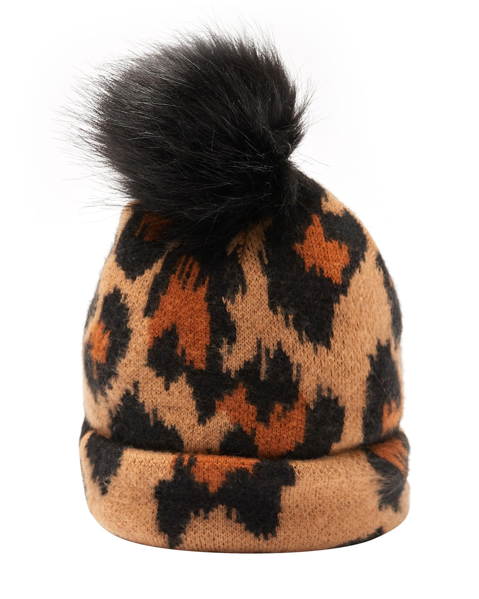 Animal Print Knitted Hat £20 Oliver Bonas