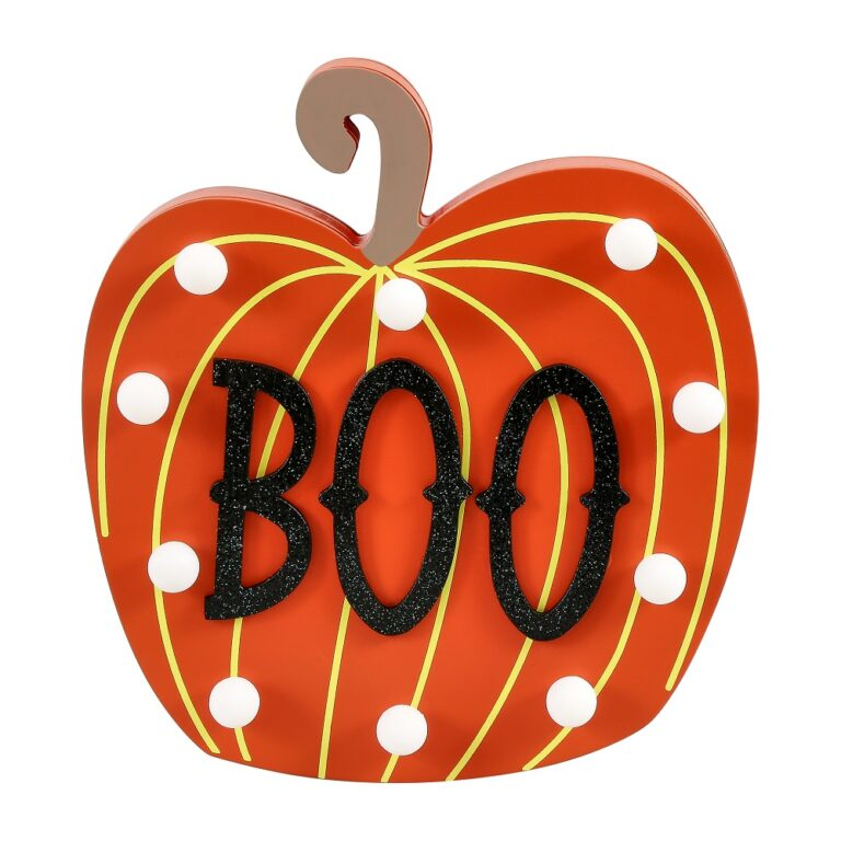 Boo Pumpkin Light Up Plaque £6 Sainsbury's Home
