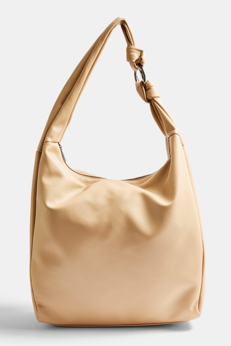Camel Oversized Knot Hobo Bag £32.99 TopShop