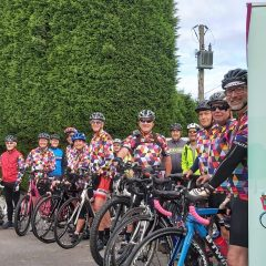 The Alsager Harlequins - Tour De Alice team pic from 2020