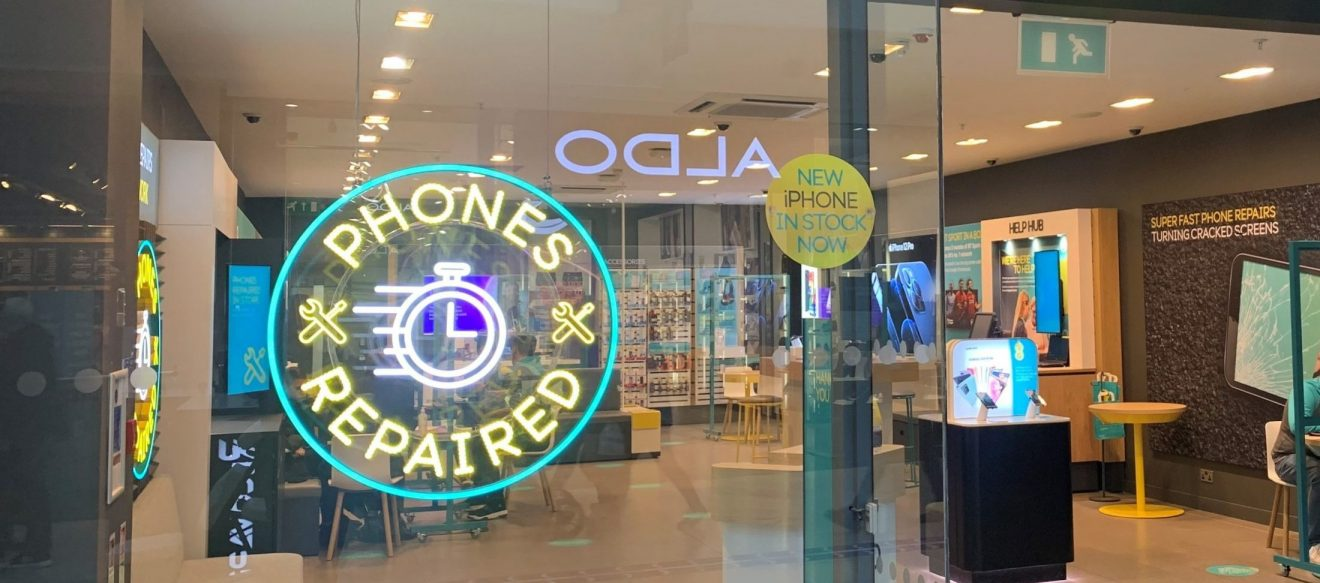 EE has extended its next day repair service to three stores in Staffordshire